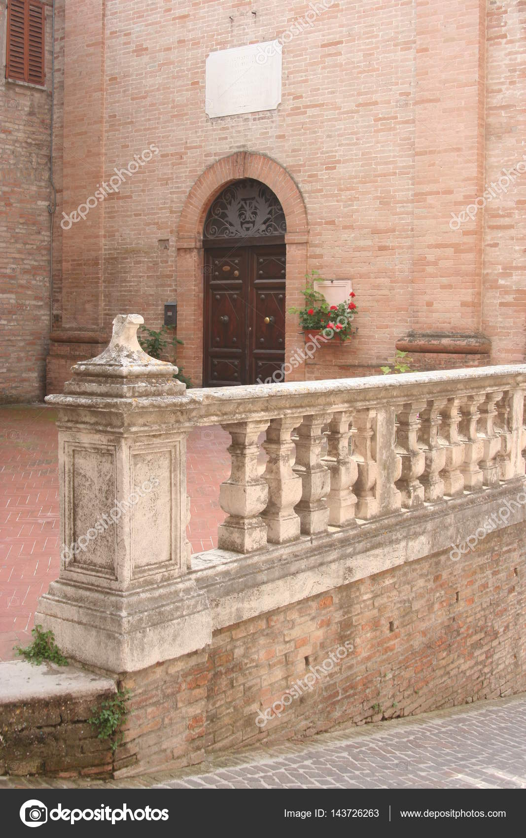 Details Of A Renaissance Palace In Urbino Downtown Italy