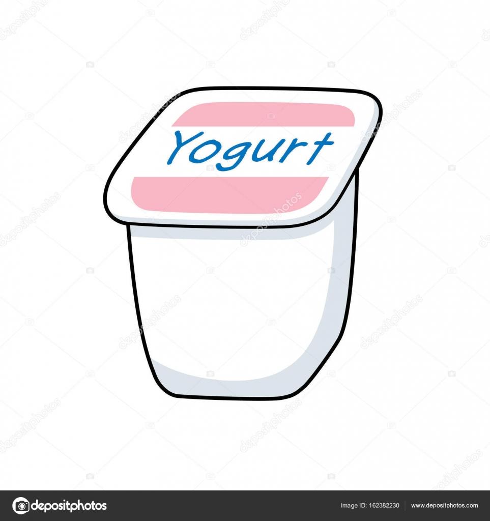Yogurt en un vaso de plástico — Archivo Imágenes Vectoriales ...
