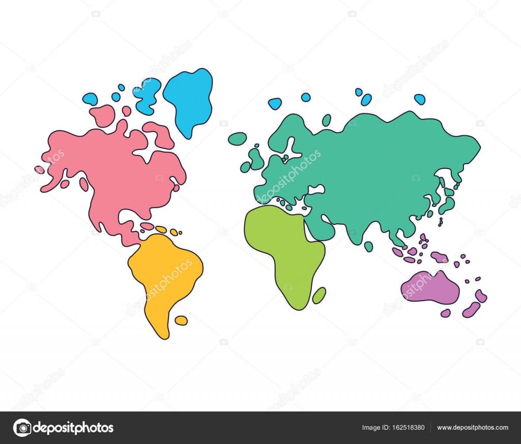 Dibujo Mapa Del Mundo Continentes.Dibujos Dibujo Del Mapa Del Mundo Dibujos De Mapa Del