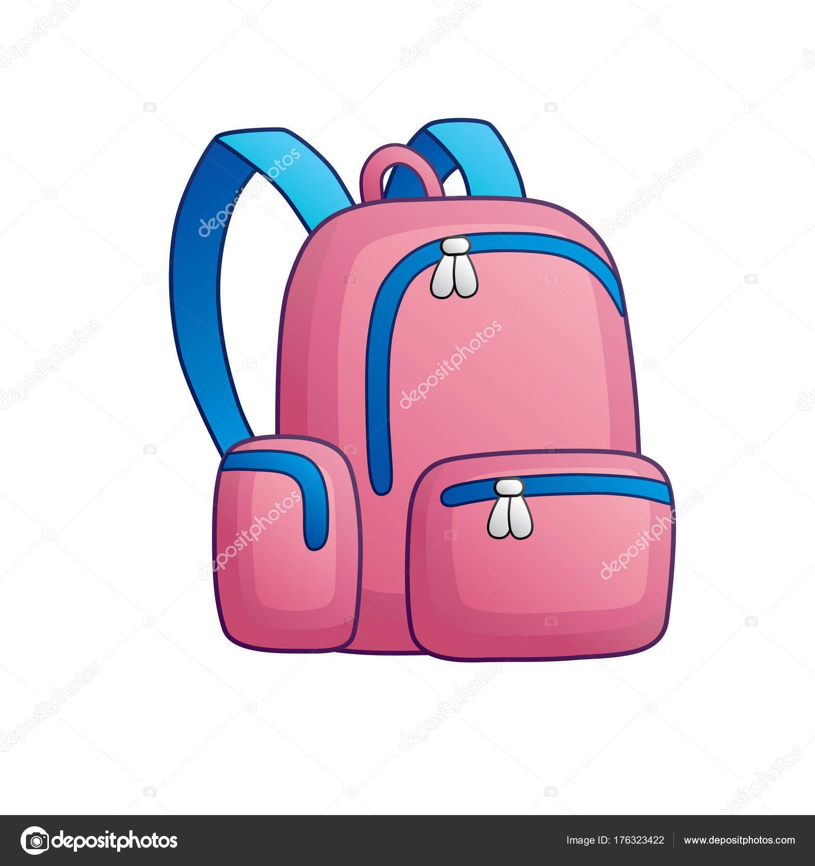304afae65c9 Ροζ Σακίδιο Σχολική Τσάντα Απομονωμένες — Διανυσματικό Αρχείο ...