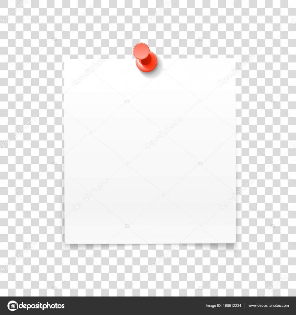 Papier-Rahmen mit Pin auf transparenten Hintergrund isoliert ...