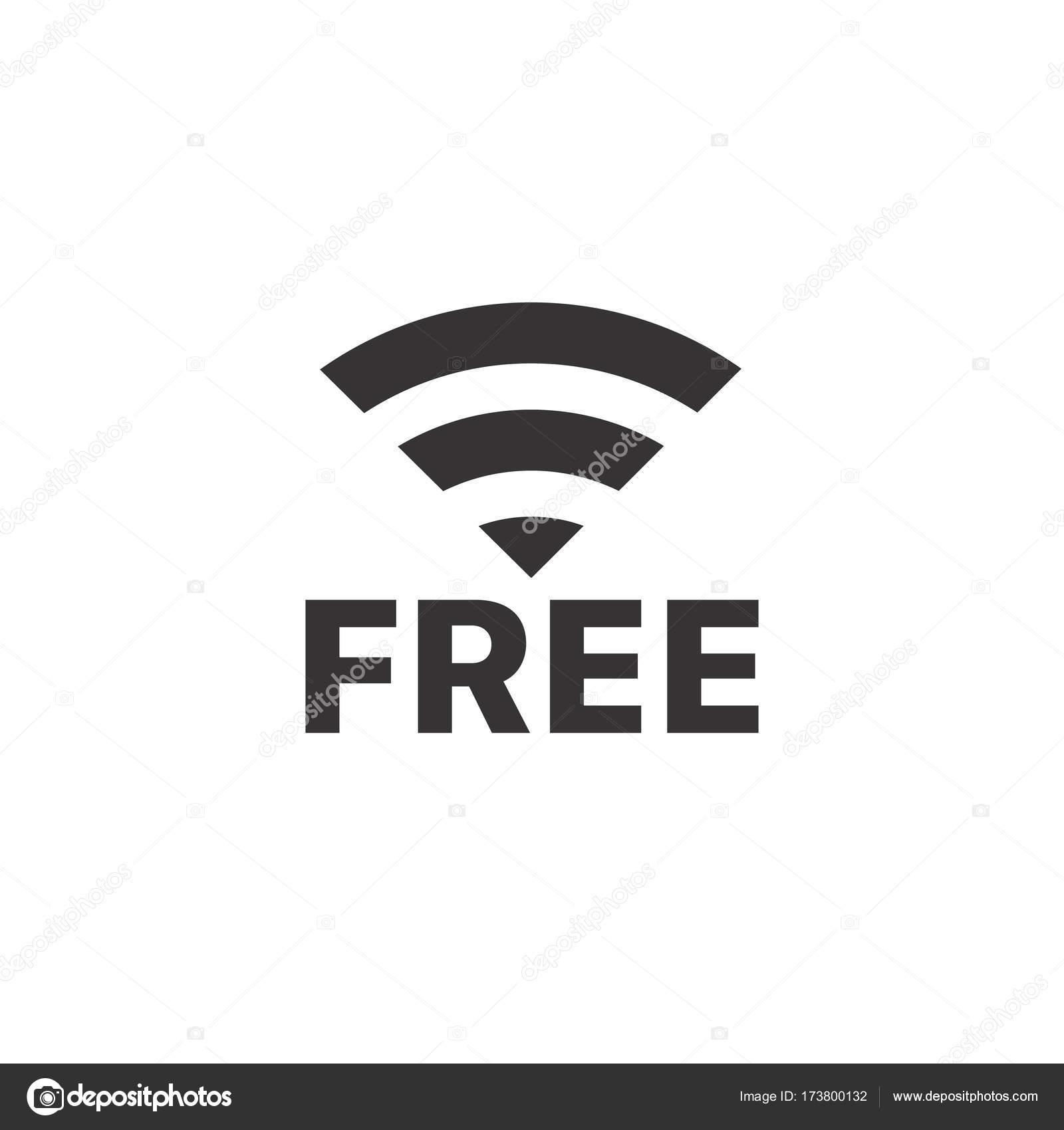 ワイヤレス接続ピクトグラムのベクター イラストです。無料
