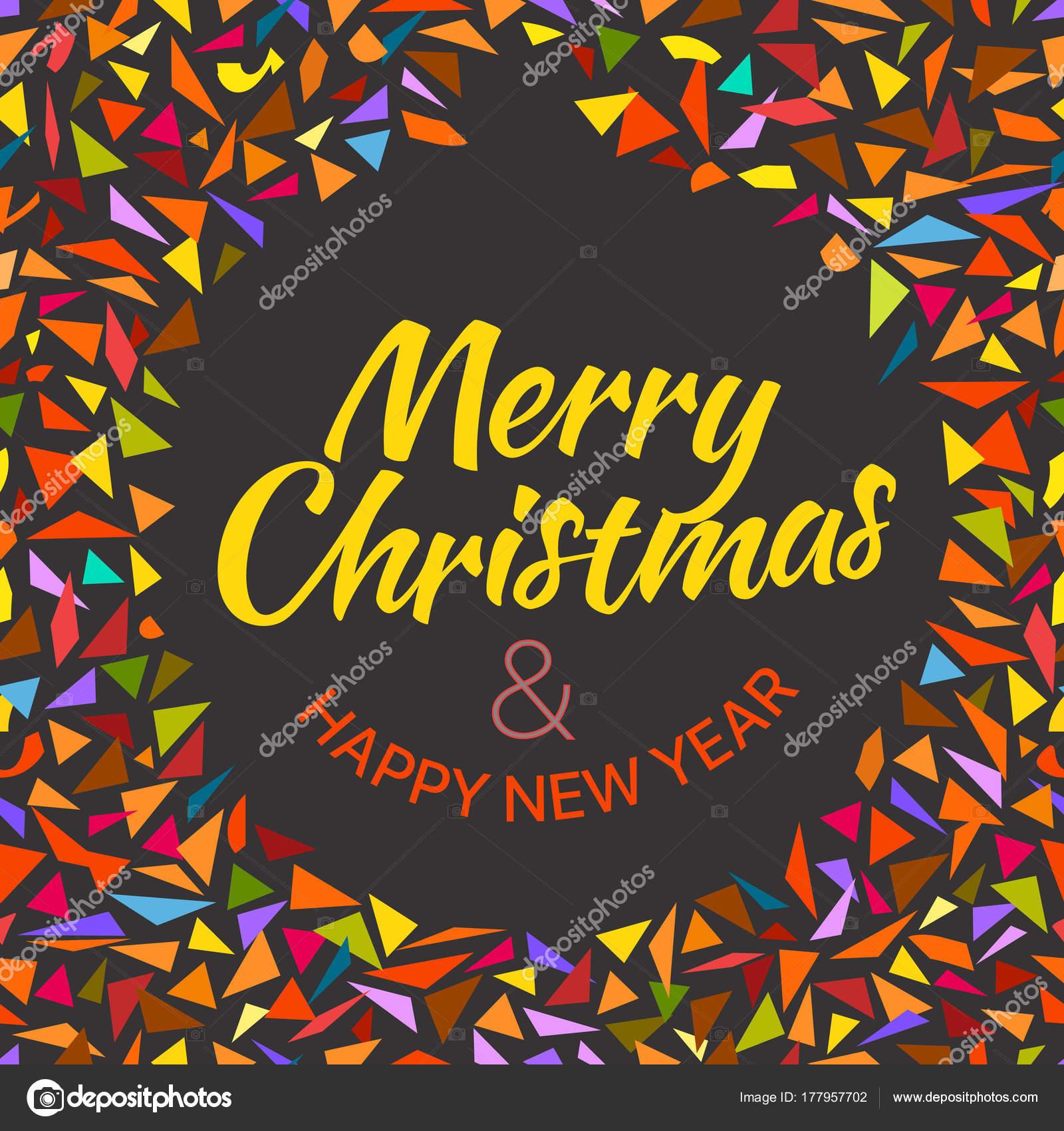 Frohe Weihnachten und frohes neues Jahr wünschen Karte — Stockvektor ...