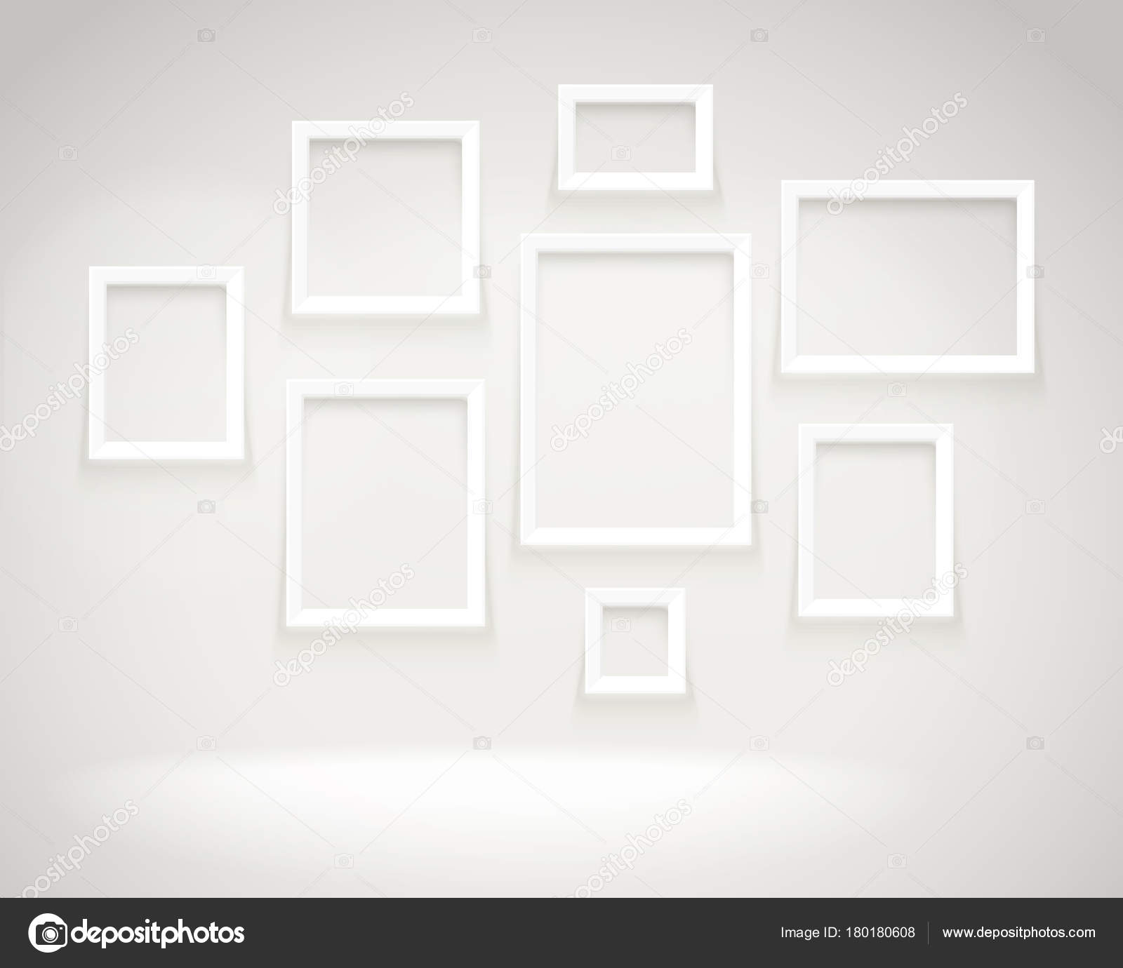 Photoreal Galería Brillante Con Marcos Plantilla Vector Presentación ...