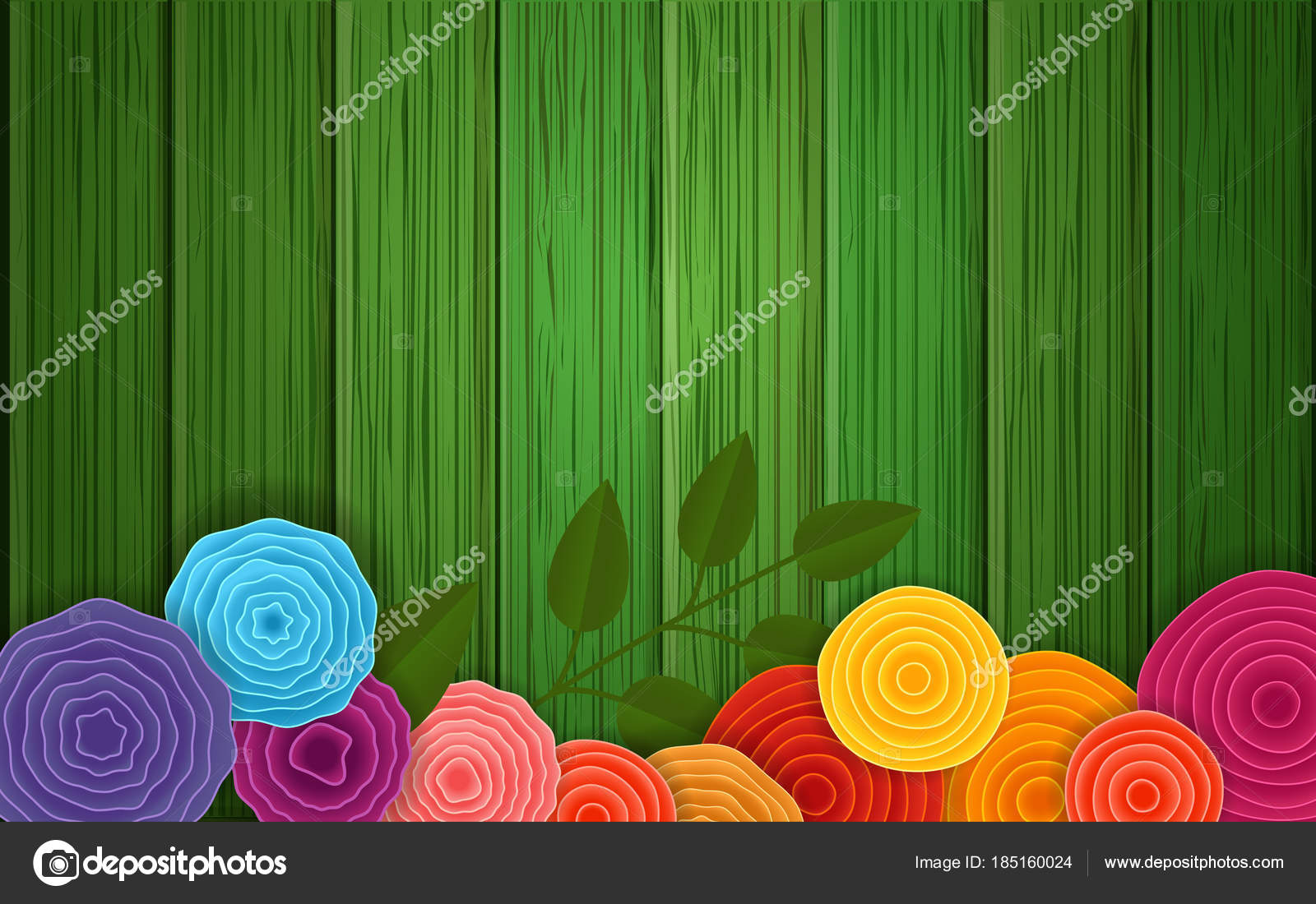 Spring Flower Background Vector Poster Abstract Flowers On