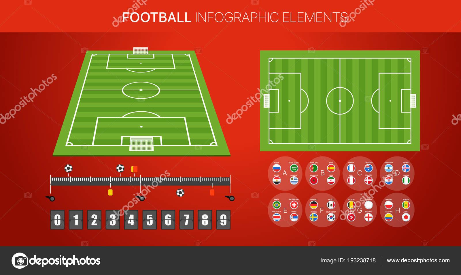 Football infographic elements  Soccer match statistics