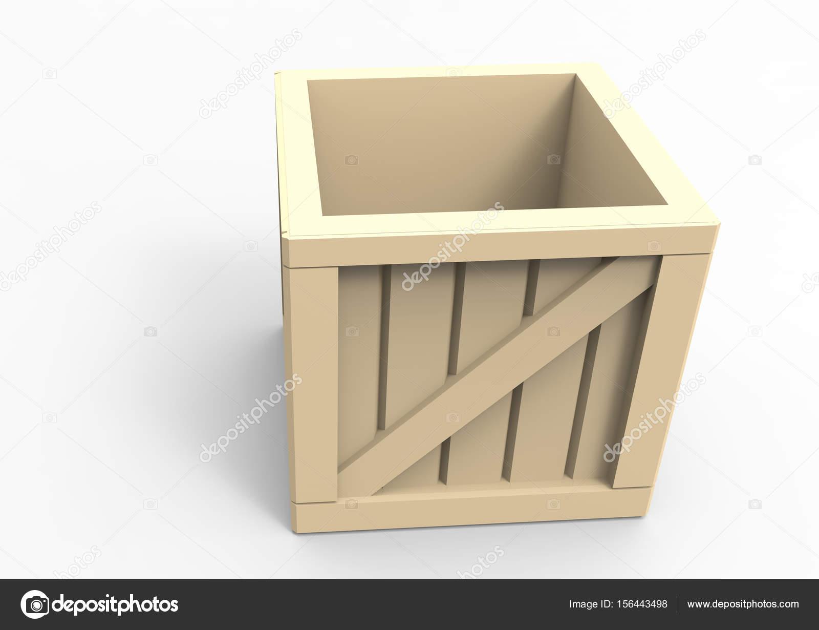 Rahmen aus Holz Box 3d — Stockfoto © blankvoid #156443498