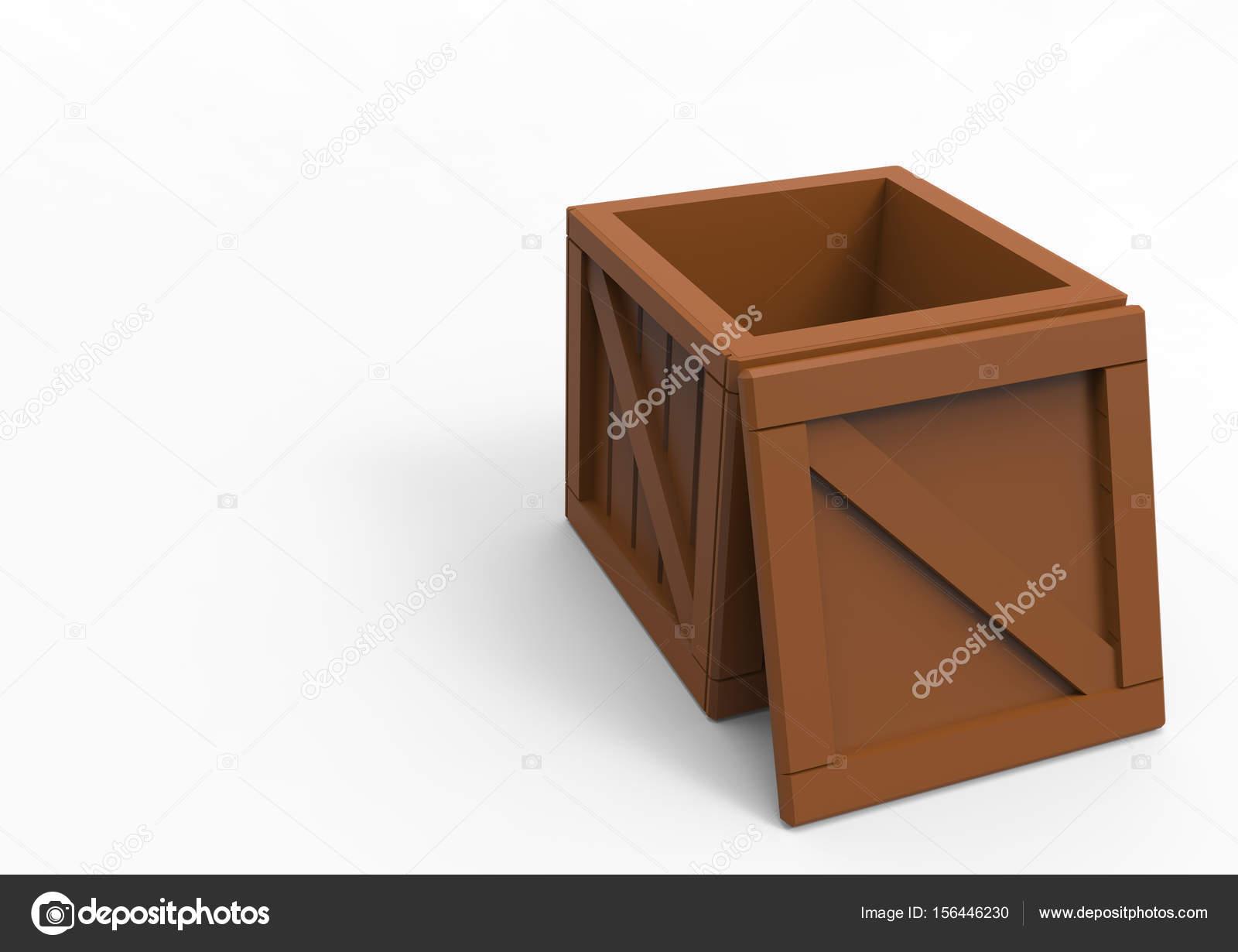 Frame Wooden Box 3D — Stock Photo © blankvoid #156446230