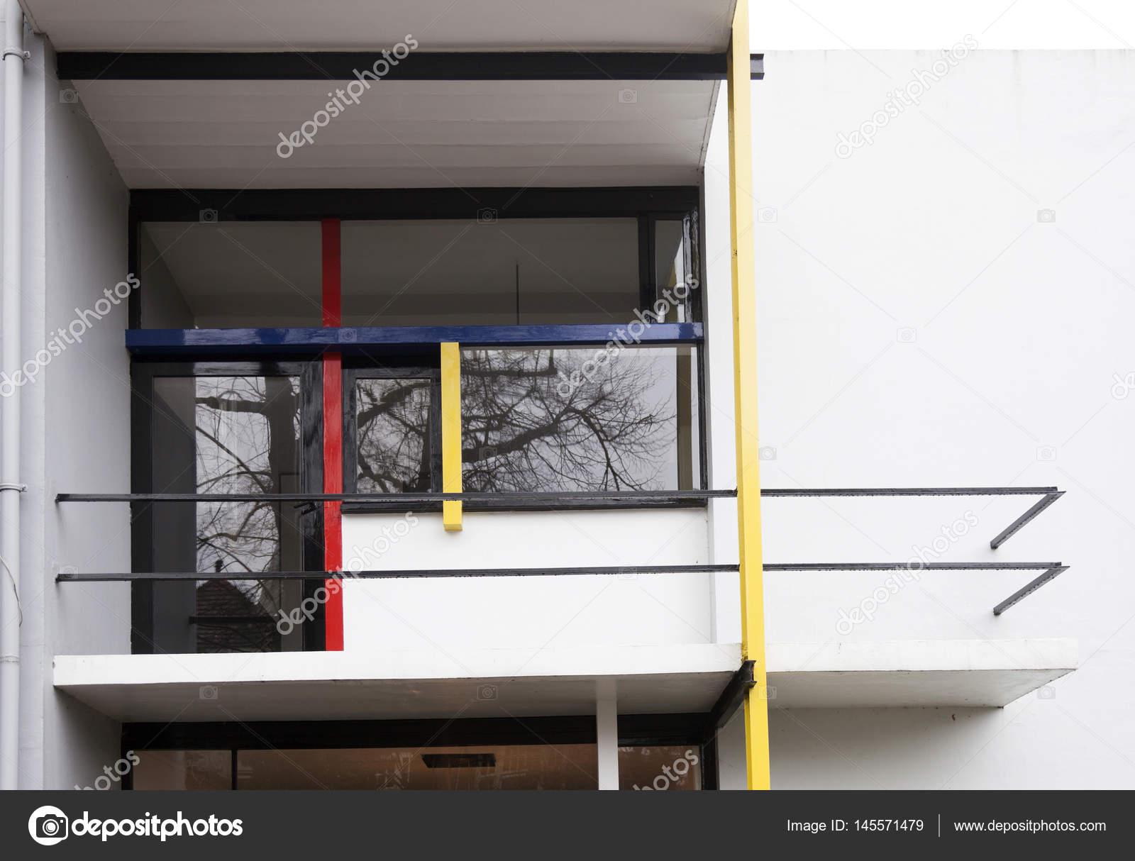 Balkon Des Rietveld Schröder Haus In Der Niederländischen Stadt