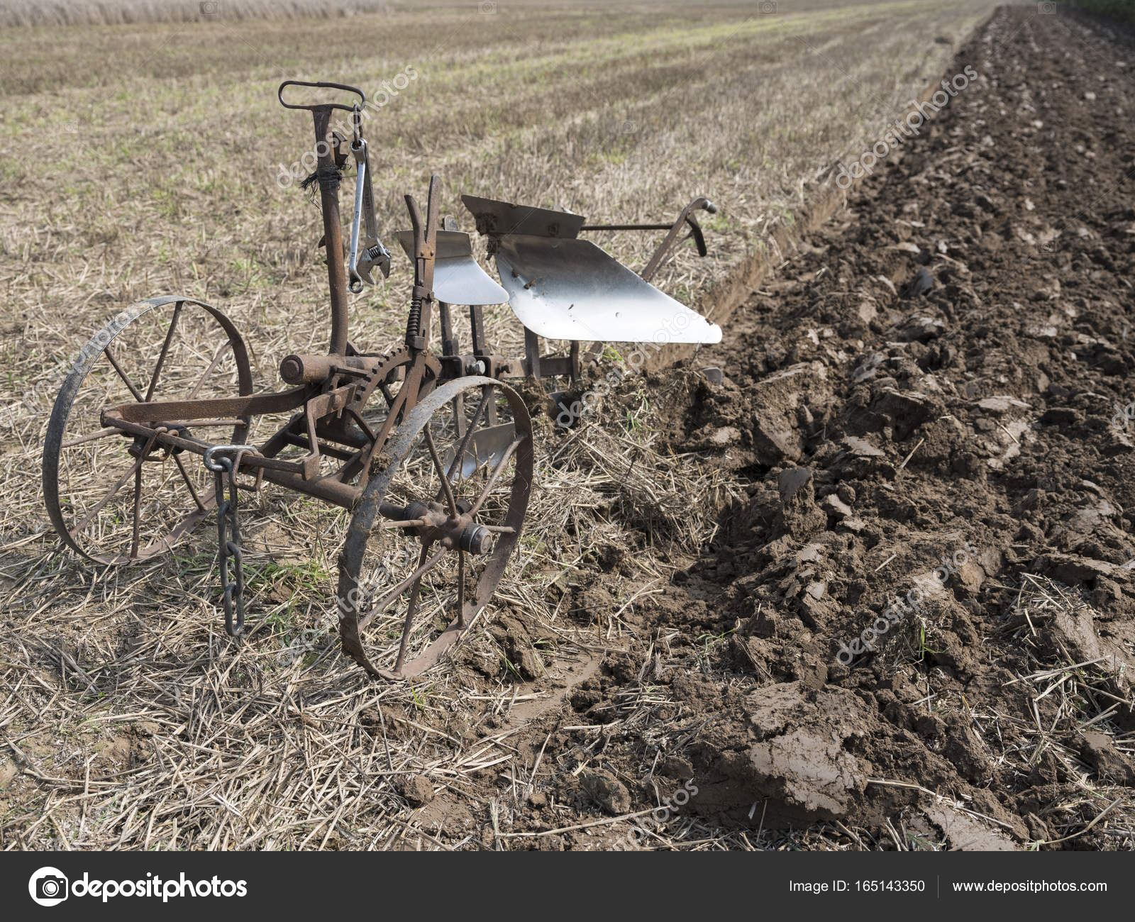 Pmages Antique Horse Drawn Plows Old Vintage Horse Drawn Plow On Field In Holland Stock Photo C Ahavelaar 165143350