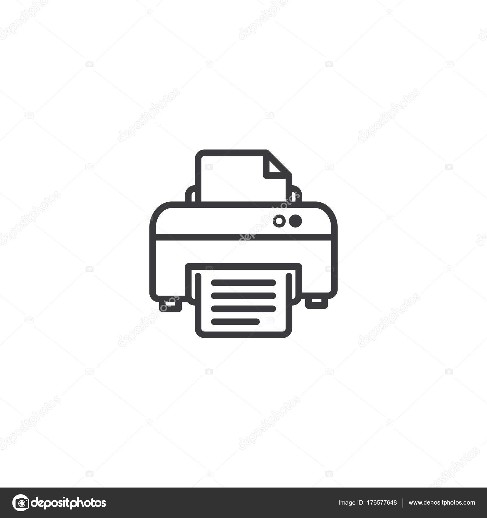 icono de símbolo de impresora. plantilla de estilo de línea de ...