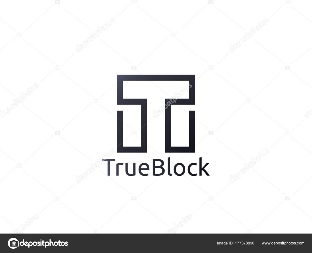 abstrakten Alphabet Buchstaben T-Logo-Symbol. Bodenfliese Block ...