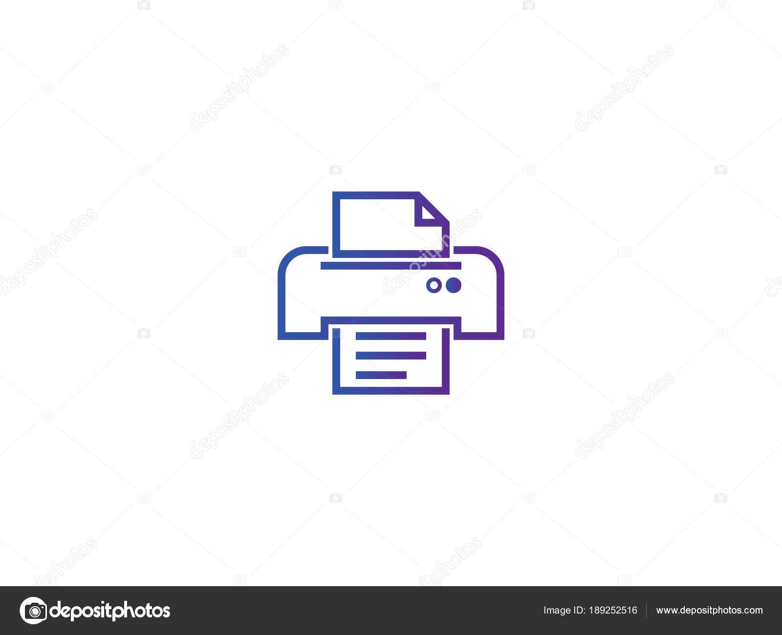 icono de símbolo de impresora. Ilustración de vector de plantilla de ...