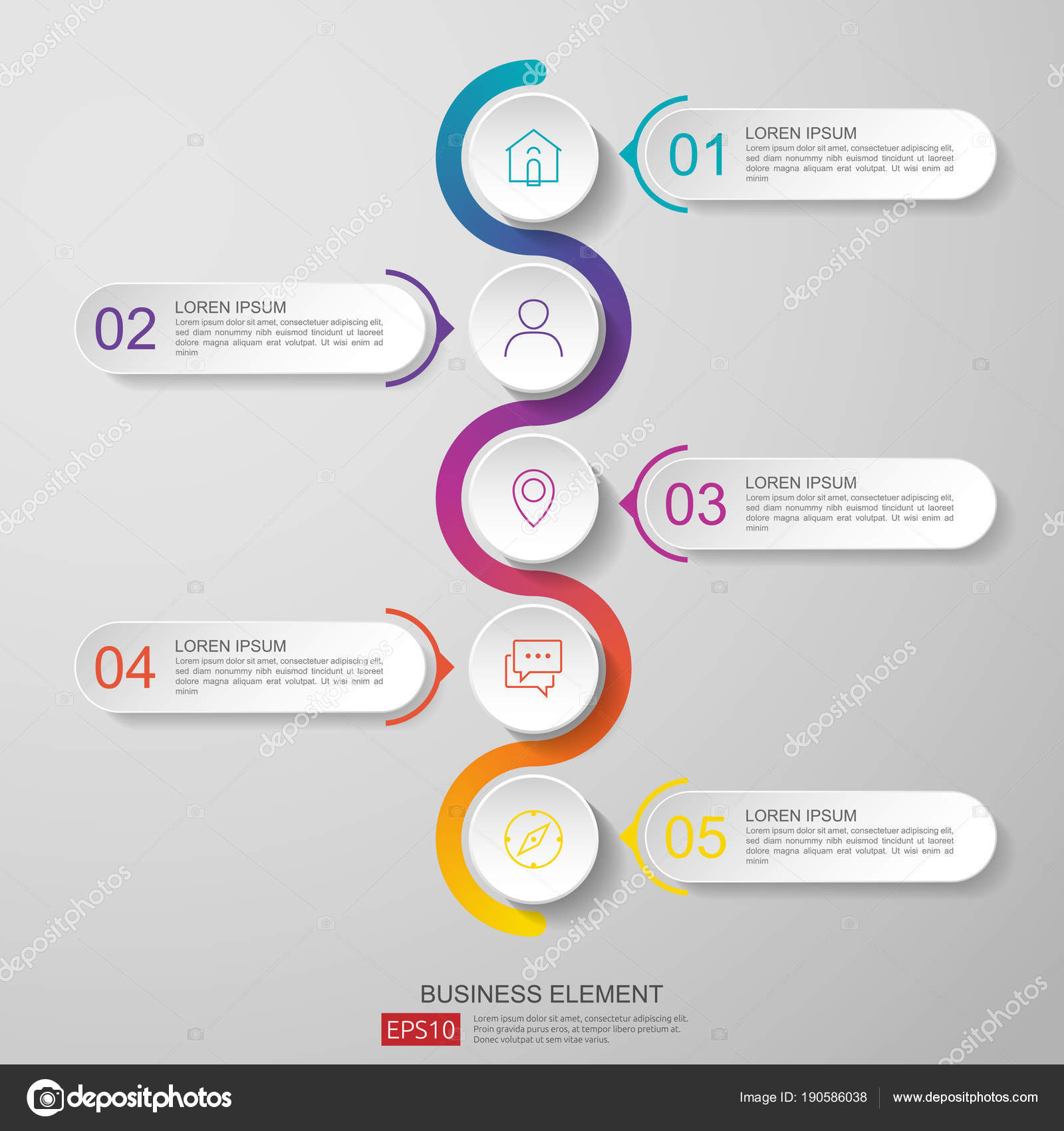 infographics timeline design template vector with 3d paper label