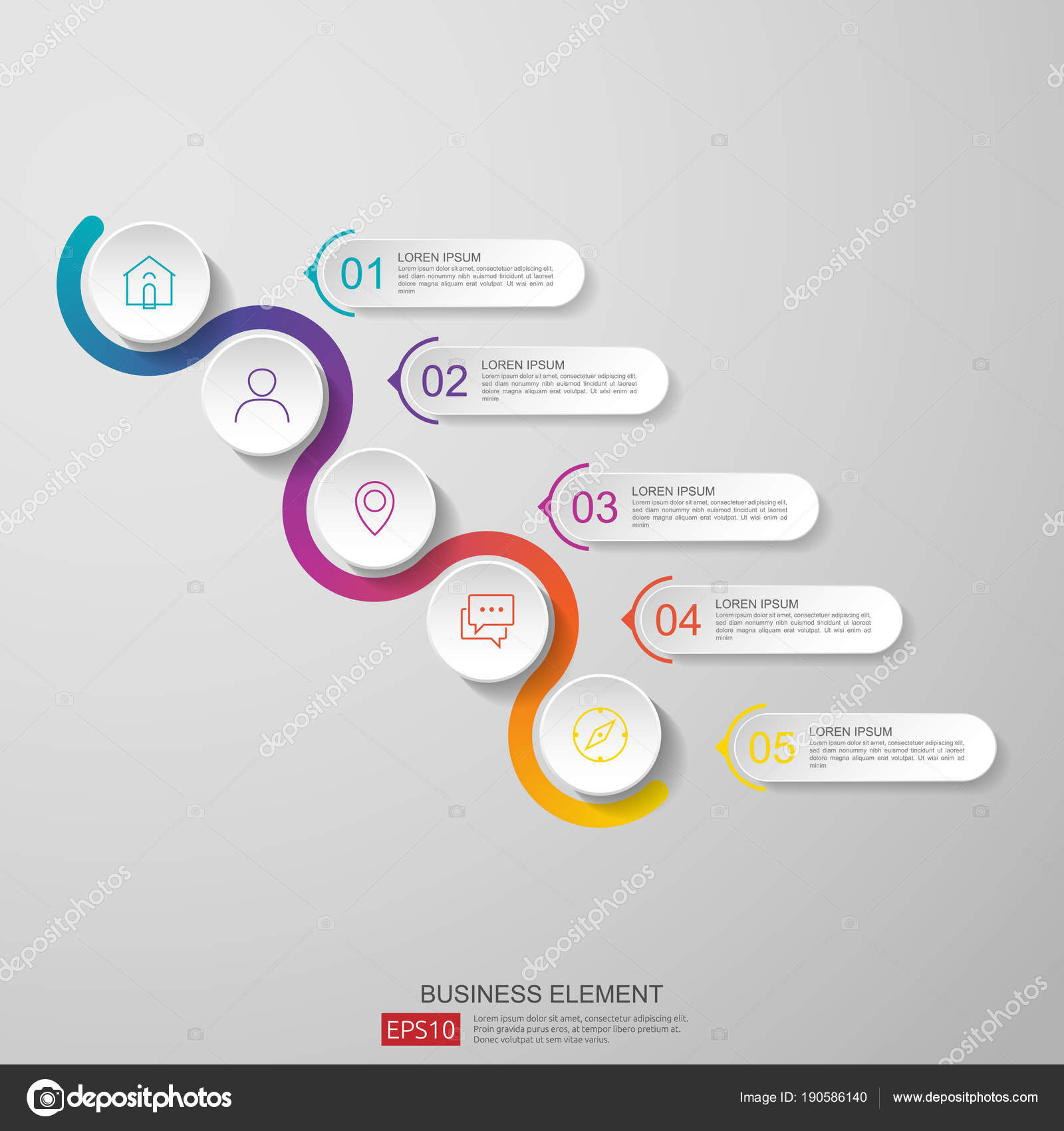 Infographics timeline design template vector with 3d paper label infographics timeline design template vector with 3d paper label integrated circles business concept with wajeb Images