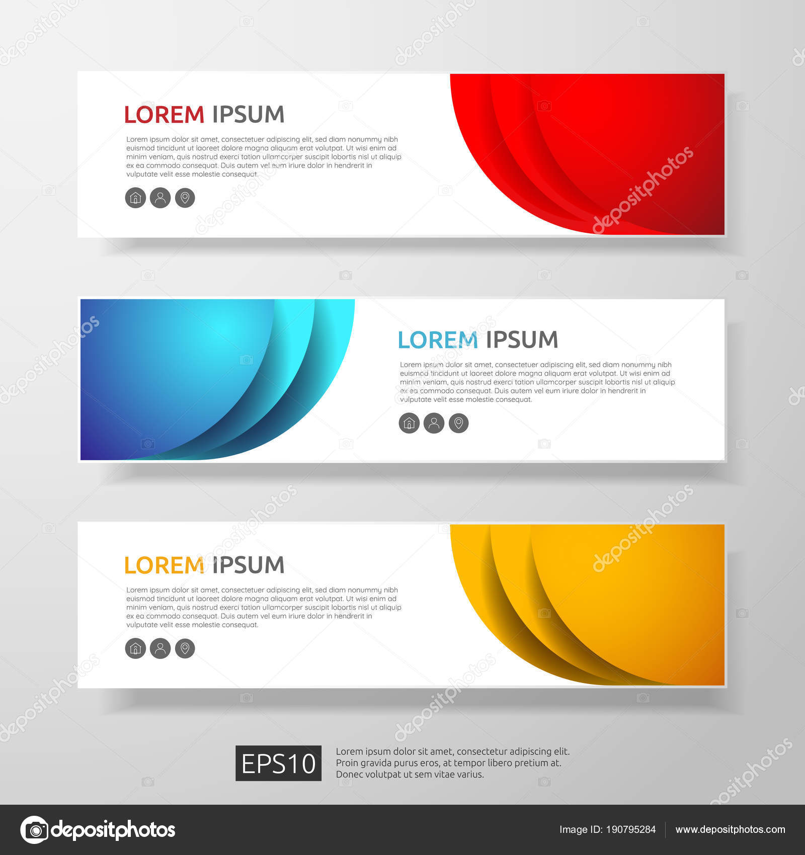 Abstract business header or banner template set with geometric abstract business header or banner template set with geometric shapes vector illustration stock vector flashek Choice Image