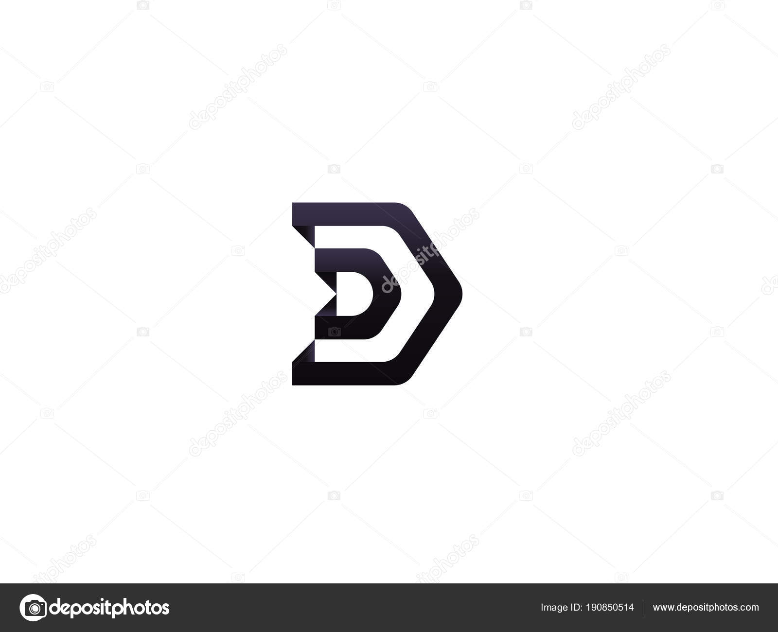letter d logo architecture door house template vector illustration
