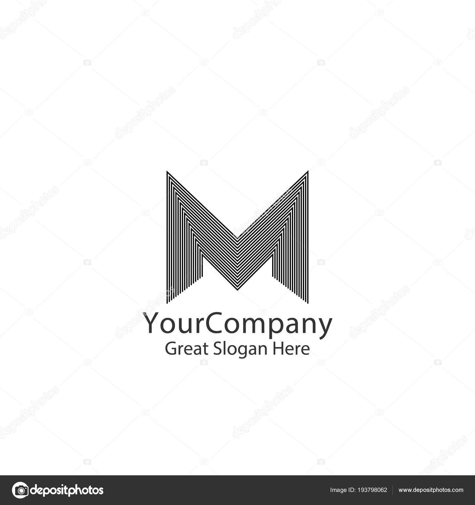 Création De Logo Lettre M Pour La Marque De Mode Invitation