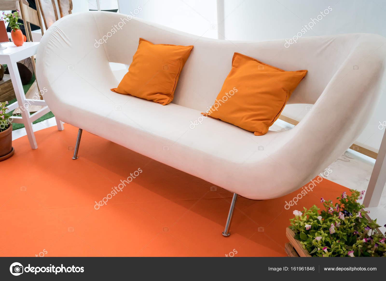 Wohnzimmer-Anzeige in orange Thema hautnah — Stockfoto © v74 #161961846