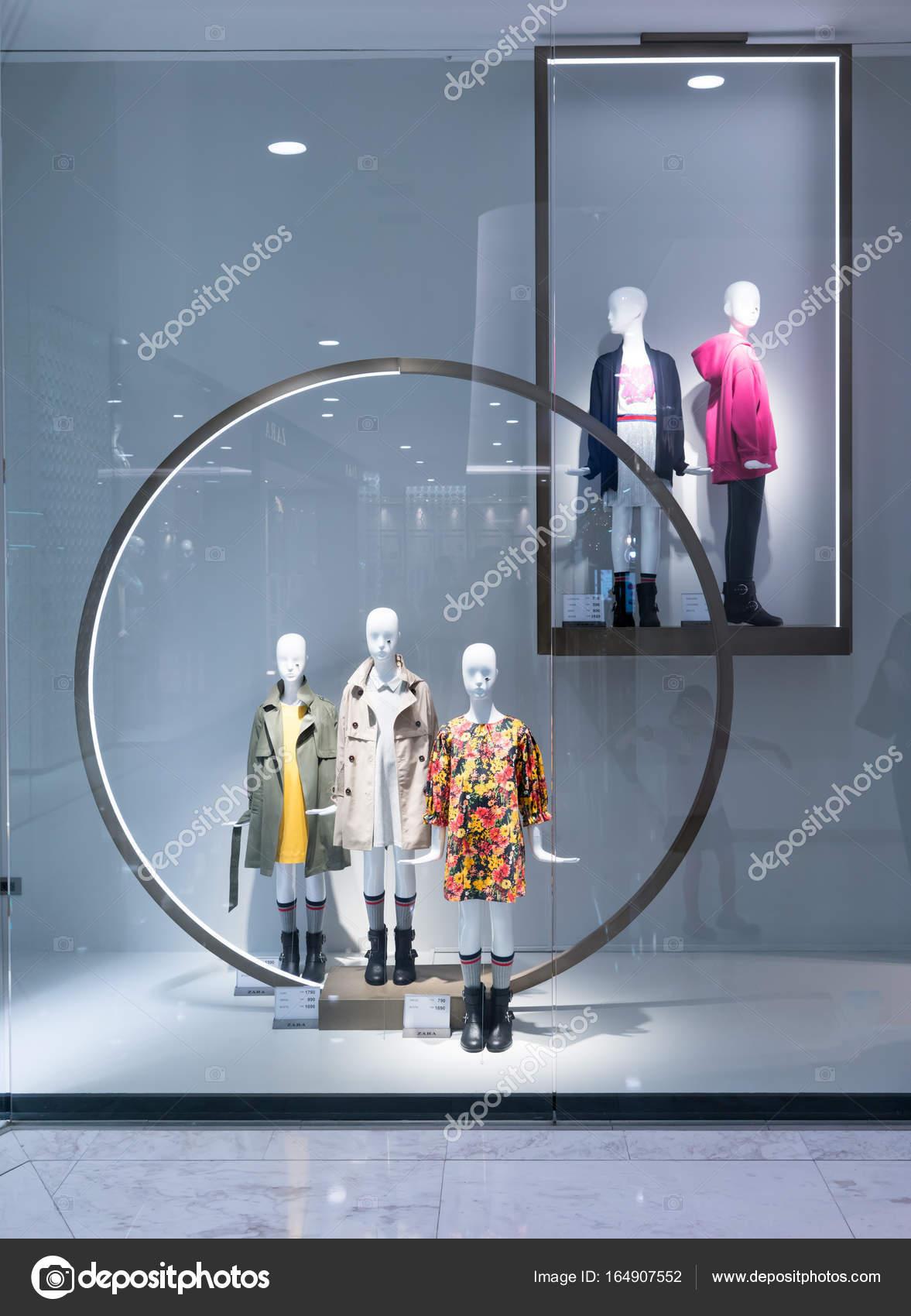 Zara shop at Emquartier Thailand, fashionable brand window