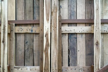 Wood construction wall for background