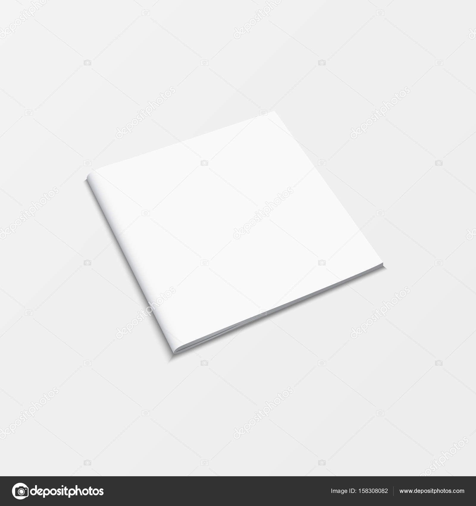 Booklet Blank White Color Isolated On White Background D Mockup - Booklet printing template