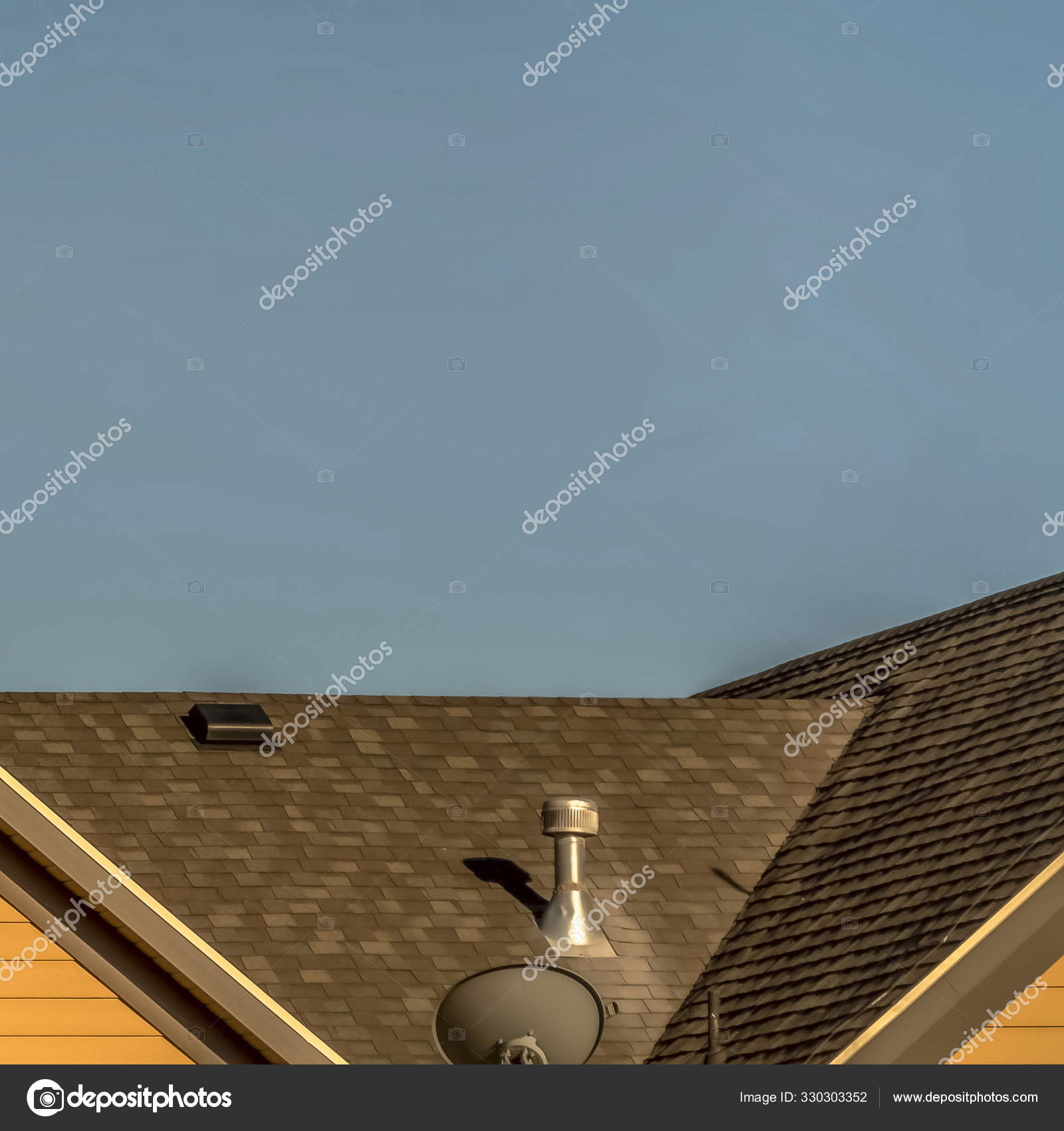 depositphotos 330303352 stock photo square house exterior with roof