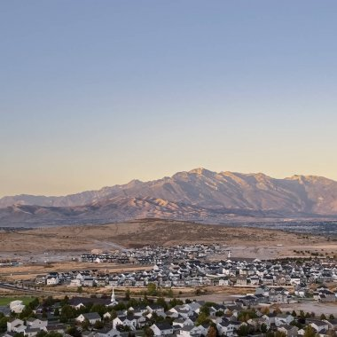 Square Scenic evening view of the Utah Valley