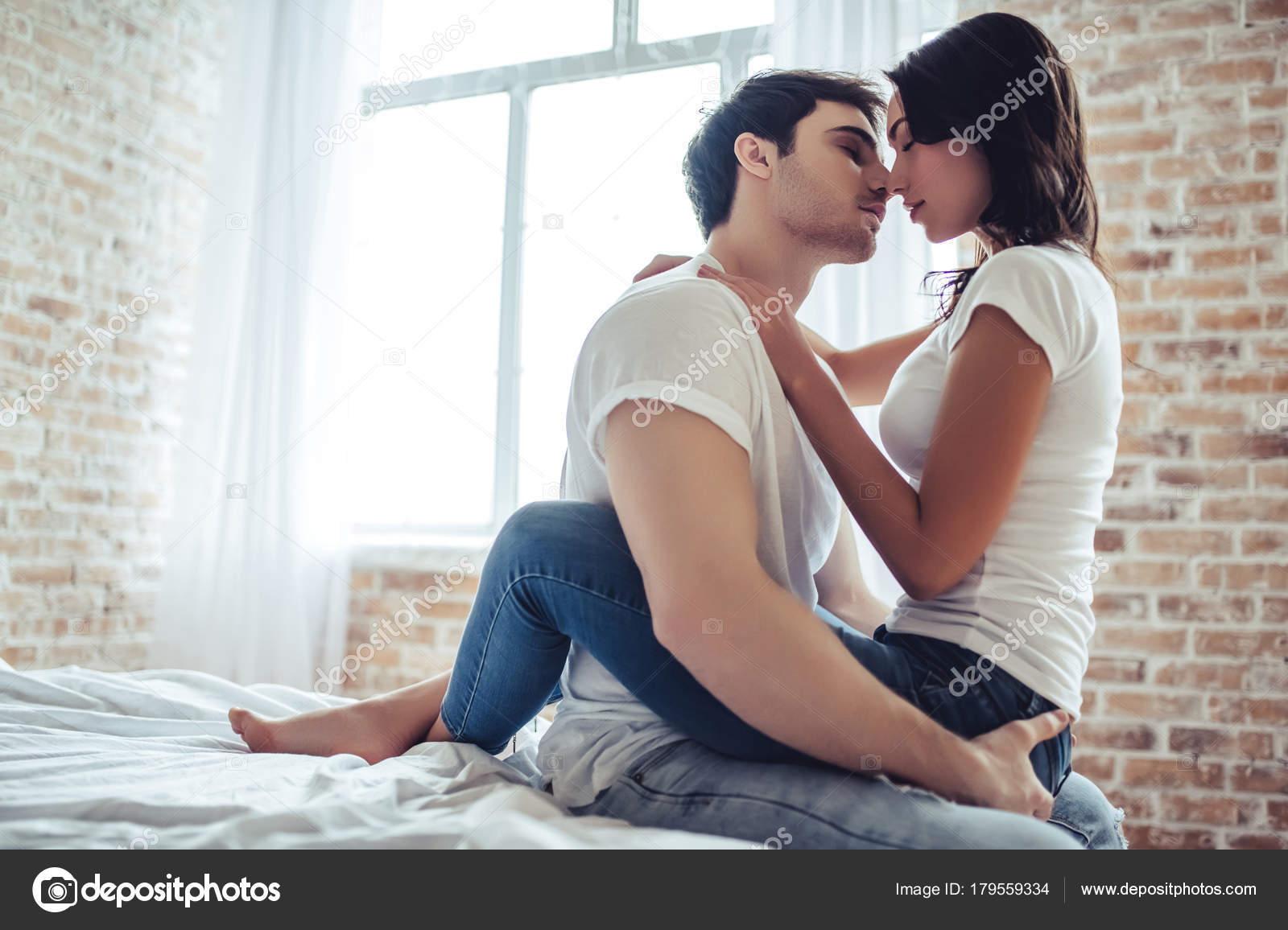 Couple In Bedroom Stock Photo Image By C 4pmphoto Gmail Com 179559334