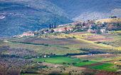 Hornatá krajina v Istrii