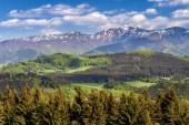 Horská krajina na jaře, v národním parku Malá Fatra.
