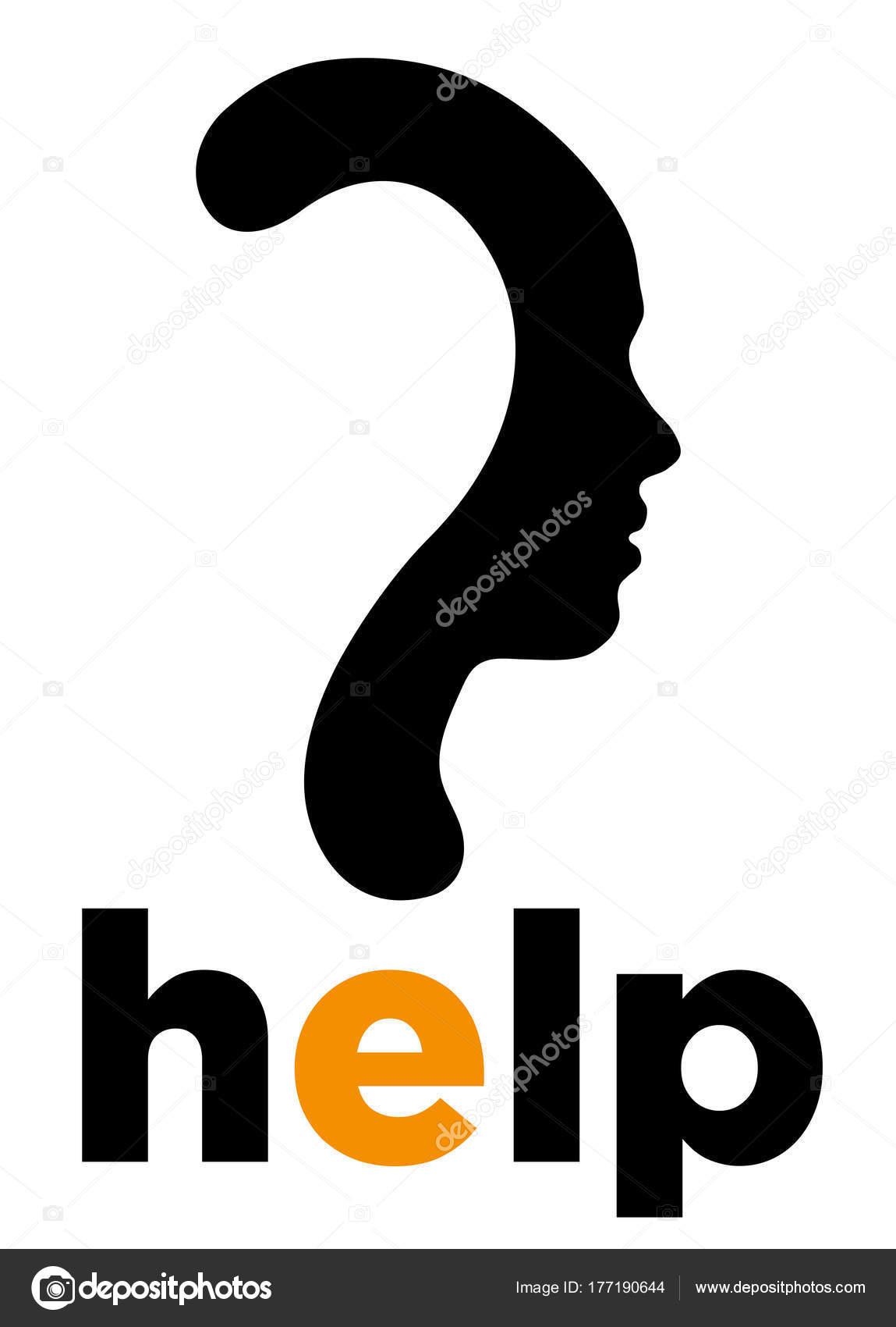 Question Mark Symbol Silhouette Of A Girl Stock Vector Lobo71