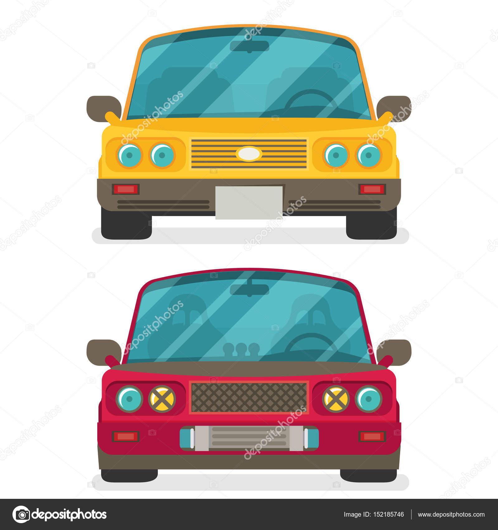 Conjunto de coches de colores — Vector de stock © Mix3r #152185746