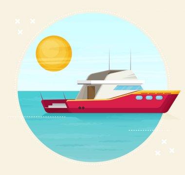 beautiful sailing yacht floats