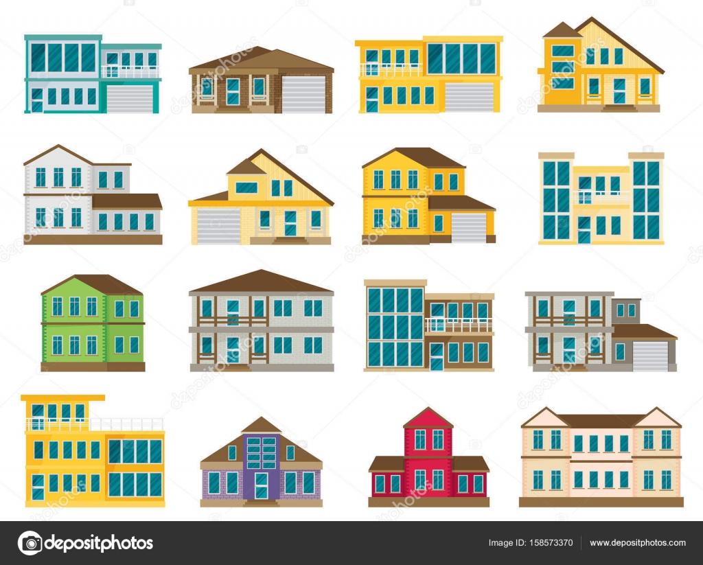 建物のイラスト カラー ストックベクター Mix3r 158573370