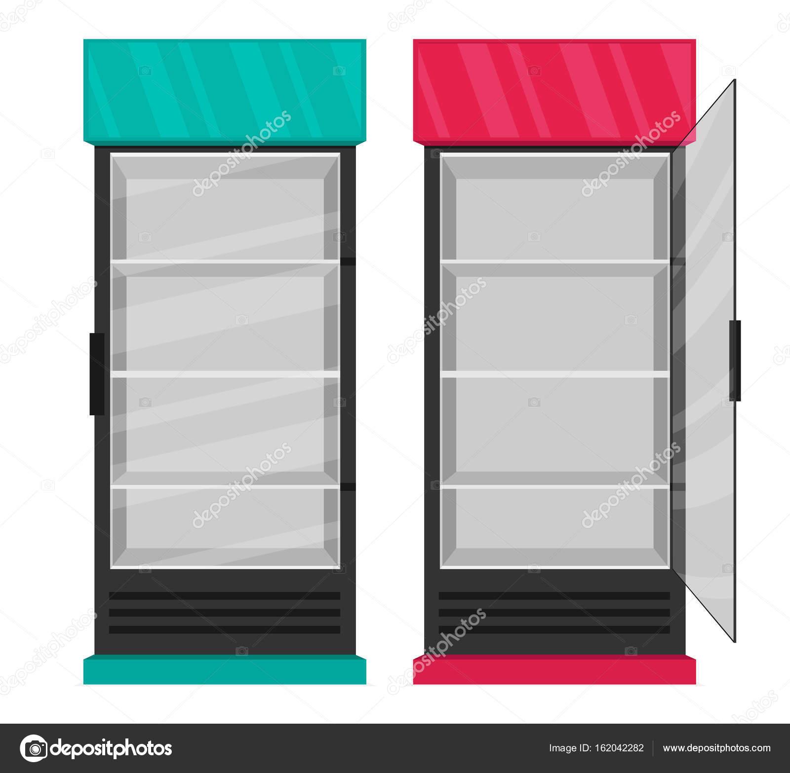 Darstellung der leere Kühlschränke — Stockvektor © Mix3r #162042282