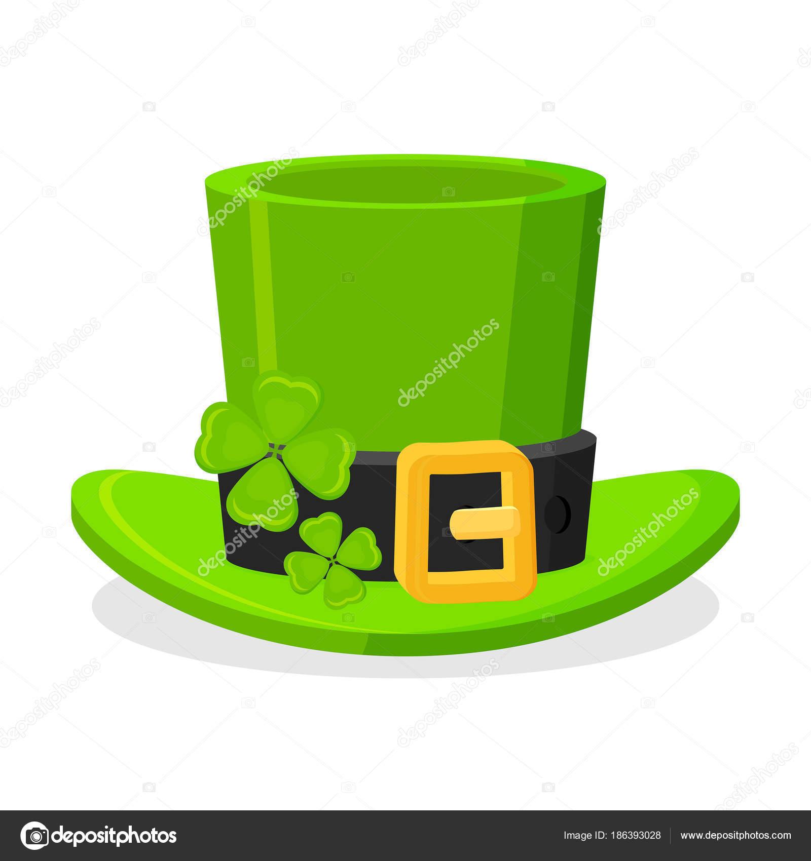 Día de San Patricio duende verde sombrero decorado con hoja de trébol 31bb7e94731