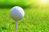 Close up of golf ball.