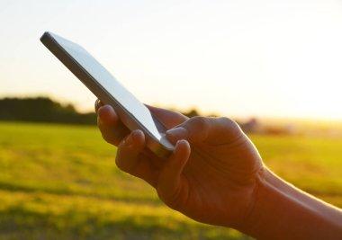 People hand using smart phone