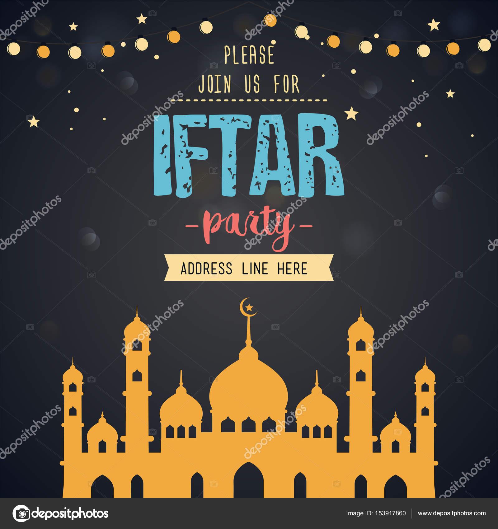 Ramadan kareem iftar party invitation card stock vector ekler ramadan kareem iftar party invitation card stock vector stopboris Image collections