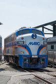 Balitmore, Md - 15 April: Marc F7-A General Motors Emd Lokomotive am 15. April 2017