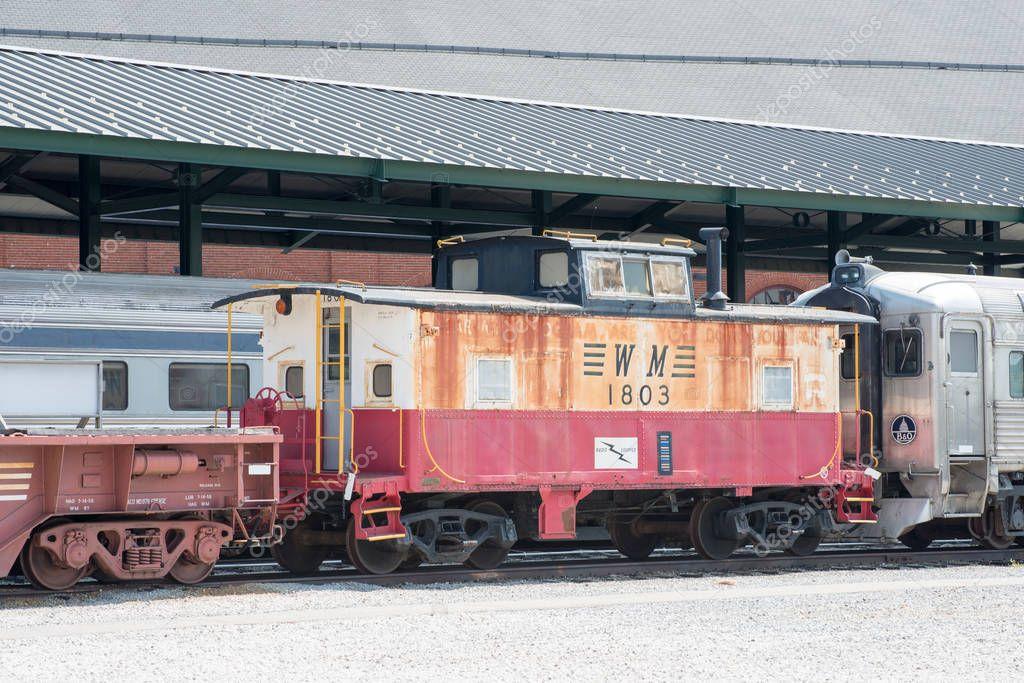 BALITMORE, MD - APRIL 15: WM No 1803 Western Maryland Railway Caboose on April 15, 2017