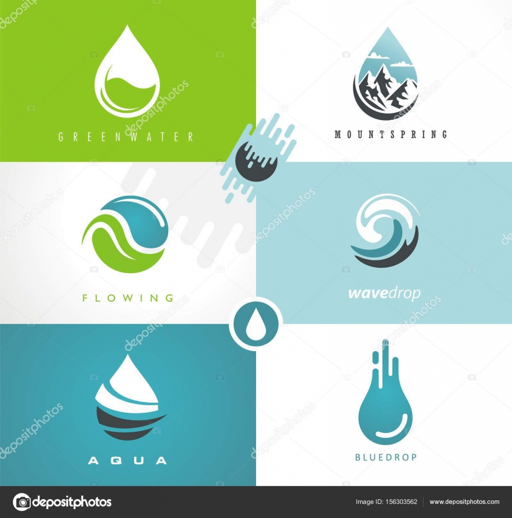 Water drops and swirls symbols and icons. Creative logo design ideas ... for Creative Logo Designs Ideas R  75sfw