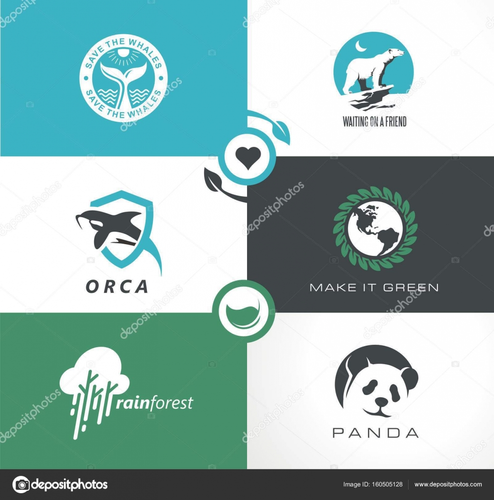 Endangered species and planet saving set of logo design and symbol endangered species and planet saving set of logo design and symbol ideas abstract collection with biocorpaavc Image collections