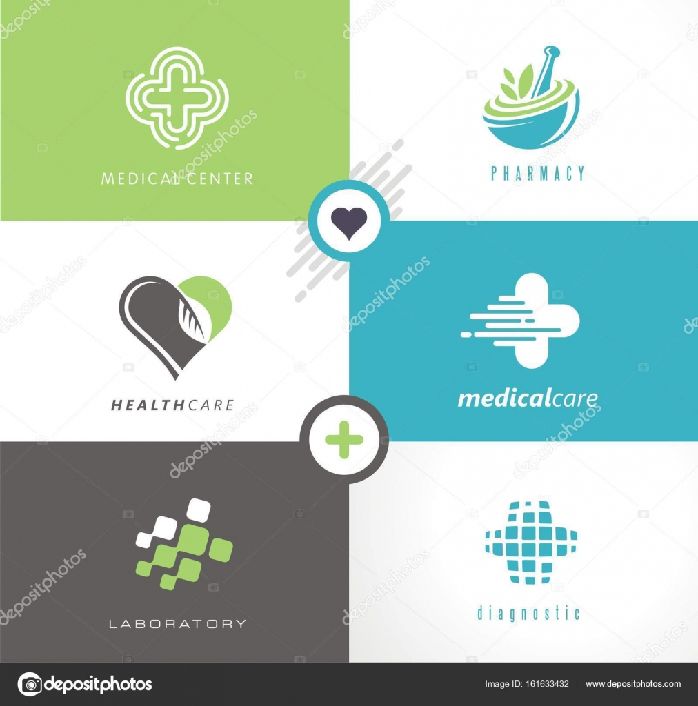 medical and health care collection of creative logos symbols and icons medicine and pharmacy modern logo design concepts with fresh and unique ideas - Modern Logos Design Ideas