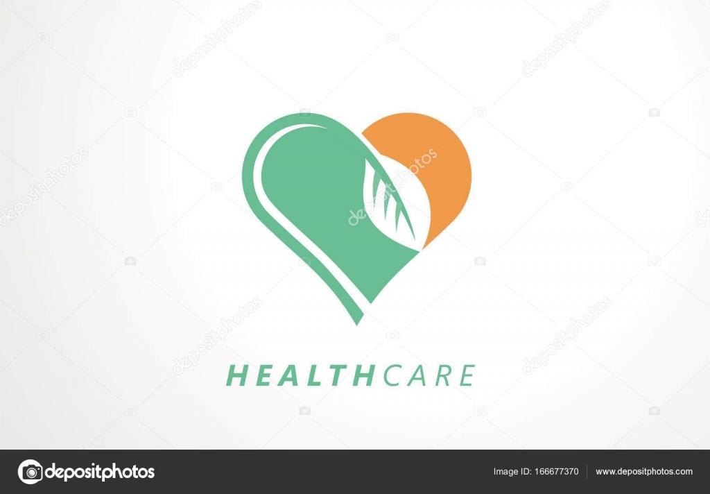 Health Care Sign Health Care Logo Design Heart Health Logo Vector