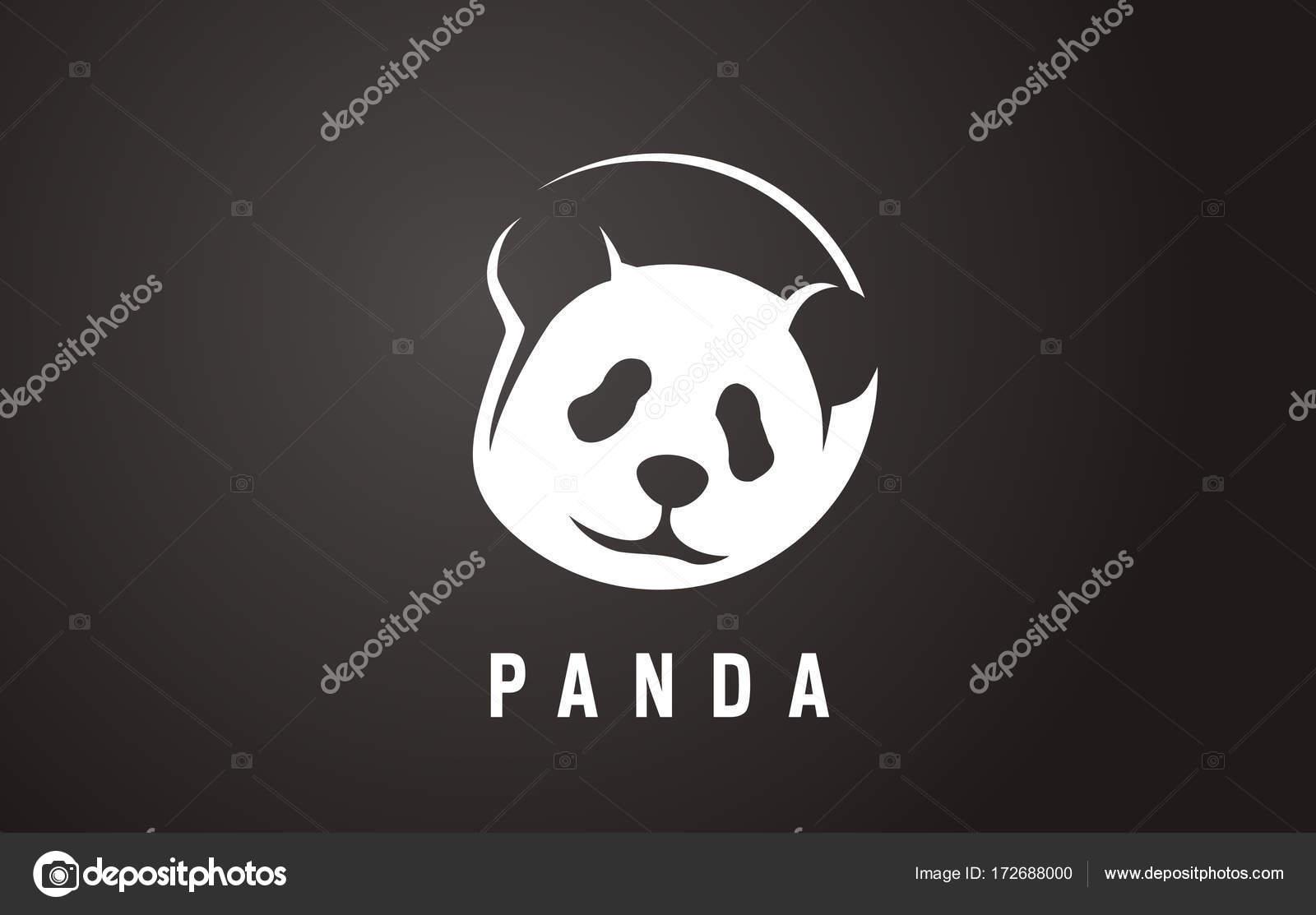 Pandas face logo in the negative space panda logo logo for pandas face logo in the negative space panda logo logo for animal protection biocorpaavc Images