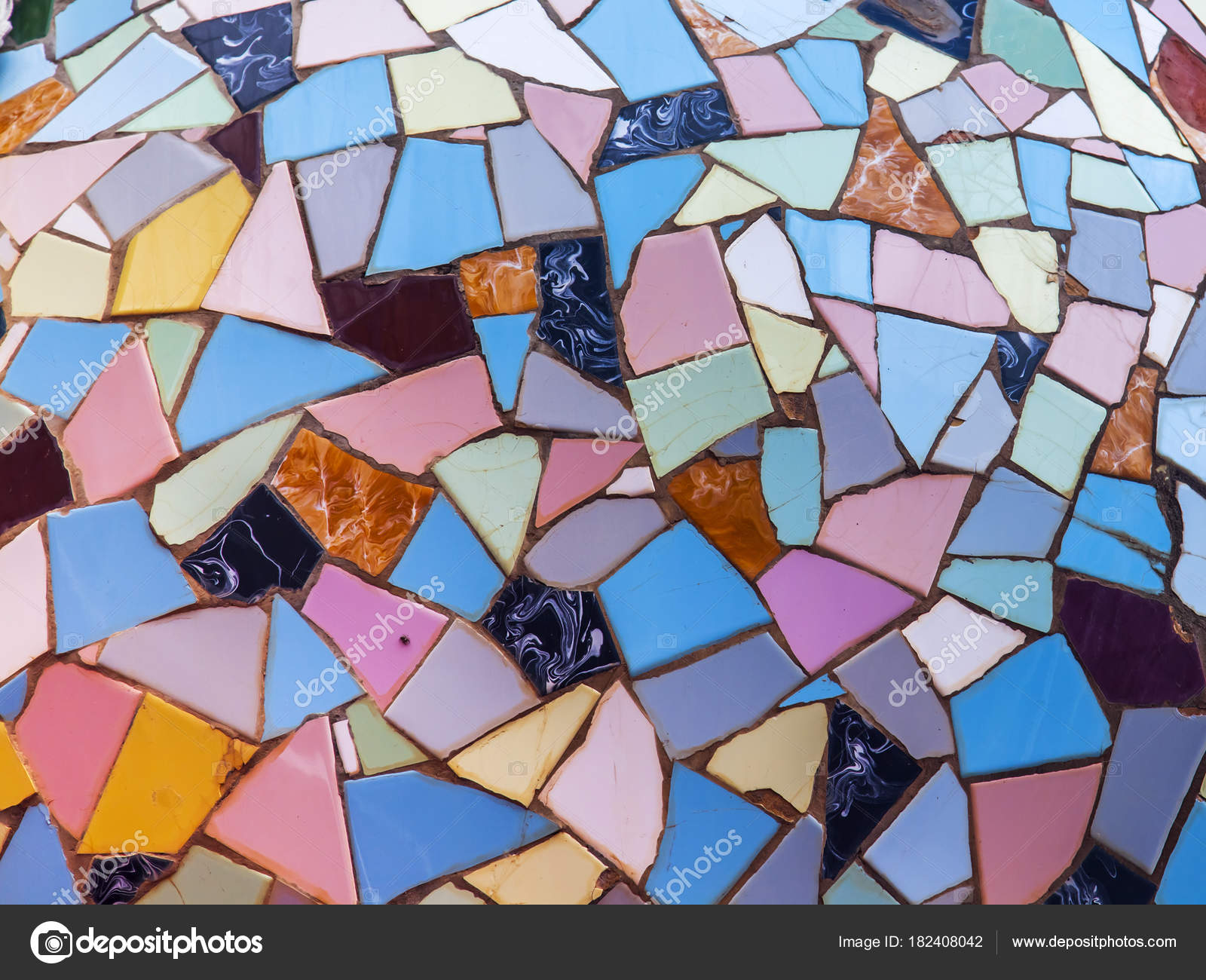 Chaotic Mosaic Multi Colored Pieces Ceramic Tile — Stock Photo ...