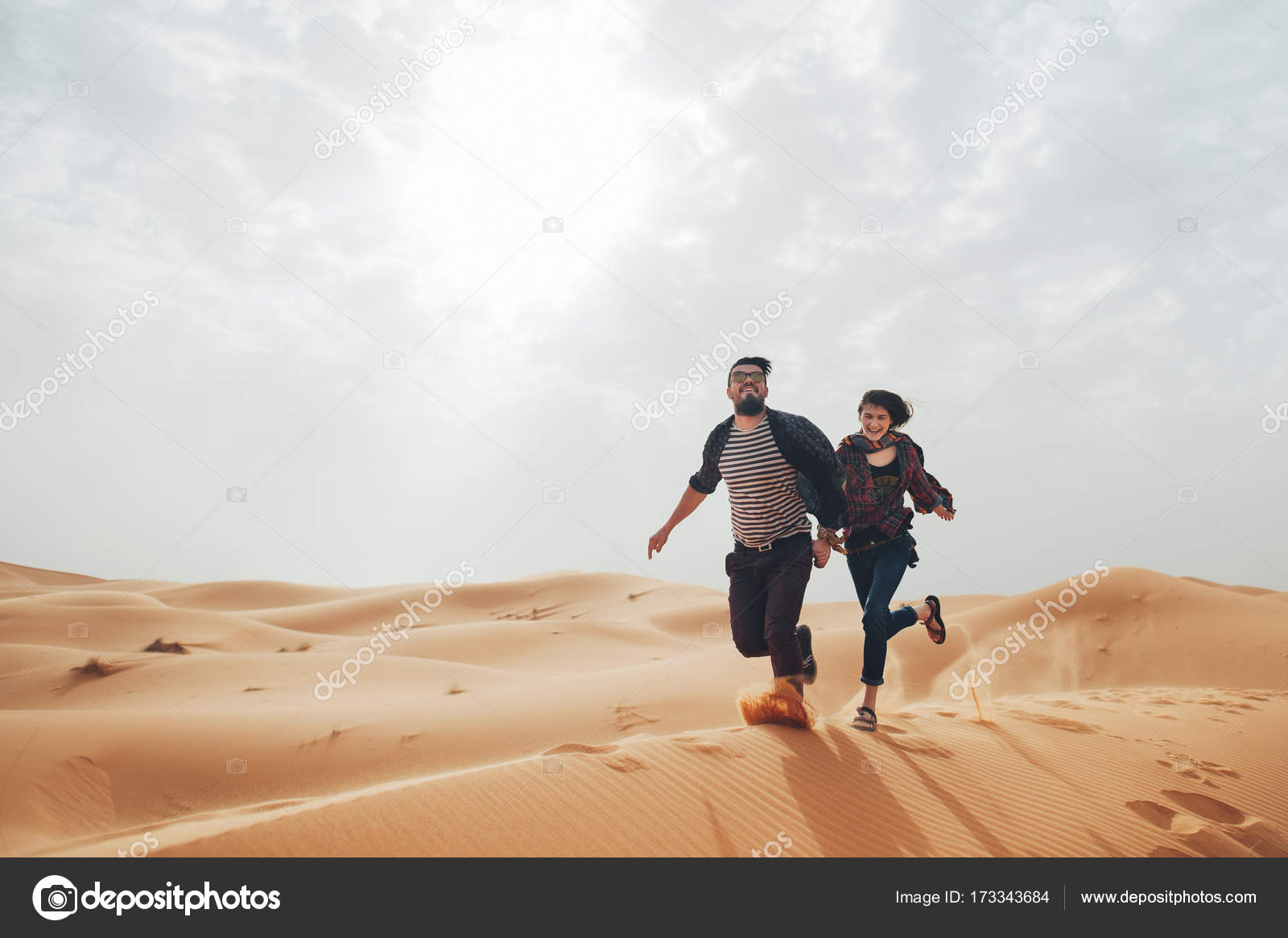 Image of: Camel Ride Couple Of Travelers In Desert Sahara Stock Image Depositphotos Couple Of Travelers In Desert Sahara Stock Photo Ladanivskyyo