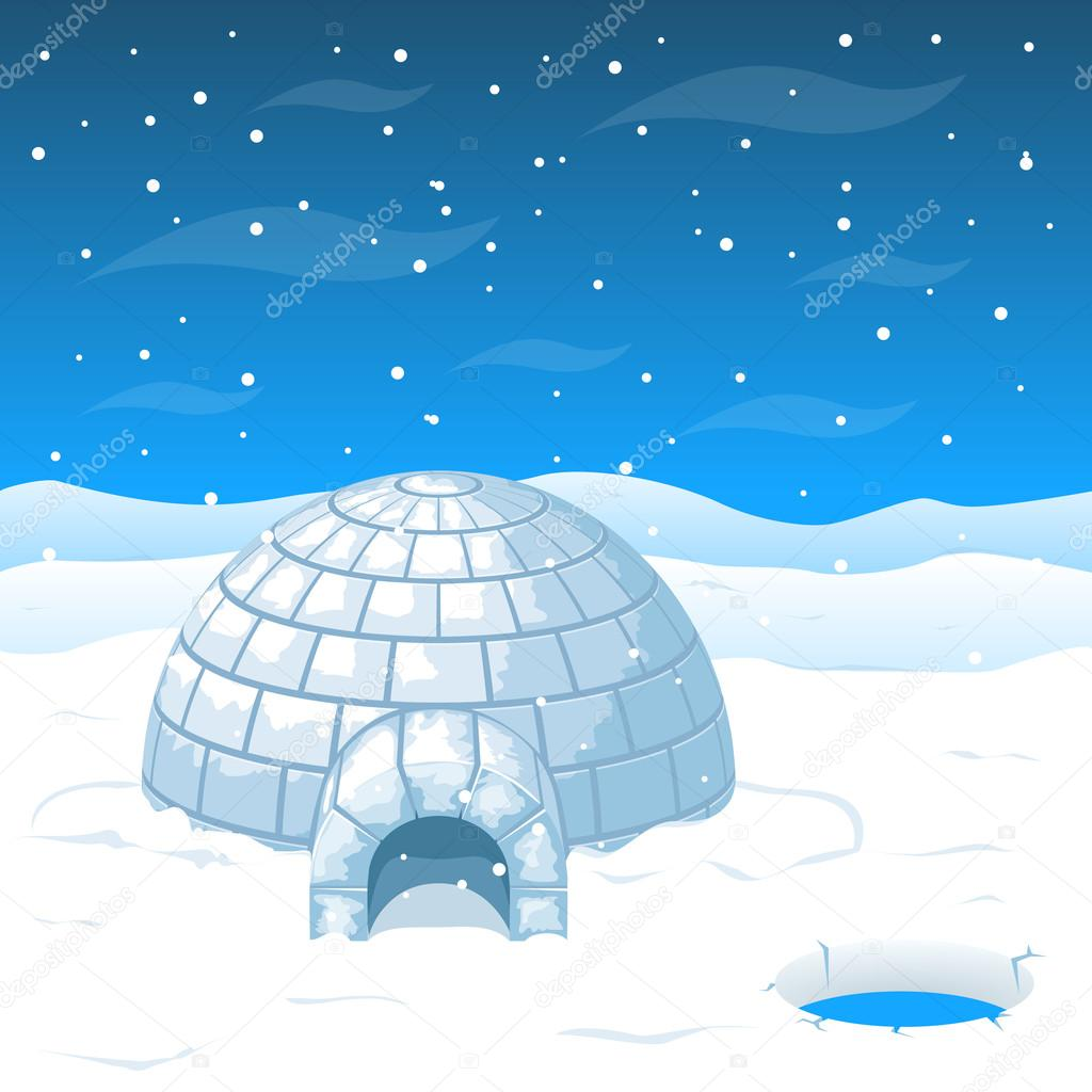 картинки северного полюса с домами можете быстро распечатать